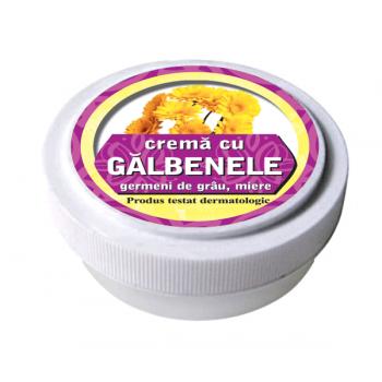 Crema cu extract de galbenele, ulei din germeni de grau si miere de albine 15 ml MANICOS