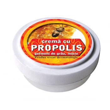 Crema cu tinctura de propolis, ulei din germeni de grau si miere de albine 15 ml MANICOS