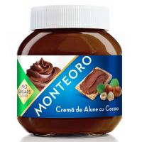 Crema de alune cu cacao monteoro, fara zahar