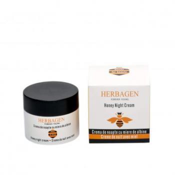 Crema de noapte cu miere de albine bio  50 ml HERBAGEN