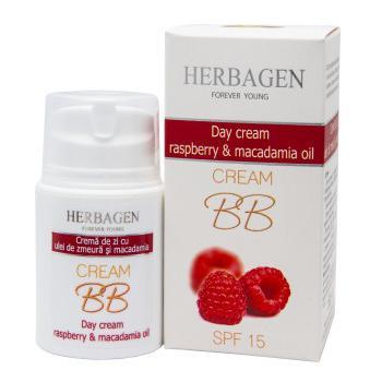Crema de zi cu zmeura si ulei de macadamia 50 ml HERBAGEN