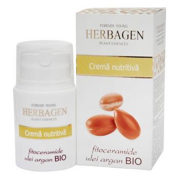 Crema nutritiva cu fitoceramide si ulei de argan bio 50 ml HERBAGEN