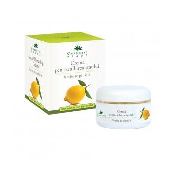 Crema pentru albirea tenului cu extract de lamaie si papadie 50 ml COSMETIC PLANT