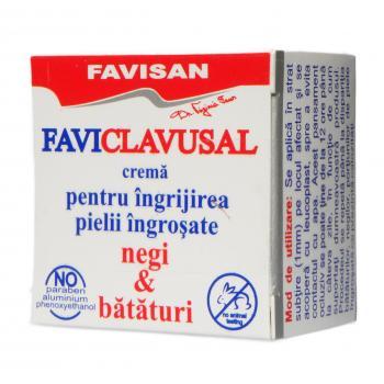 Crema pentru ingrijirea pielii ingrosate, negi & bataturi-favi clavusal  l001 10 ml FAVISAN