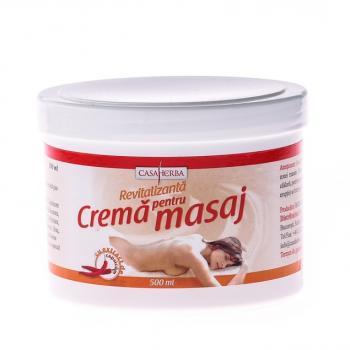 Crema pentru masaj cu ardei iute 500 ml CASA HERBA