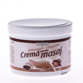 Crema pentru masaj cu cofeina 500 ml CASA HERBA