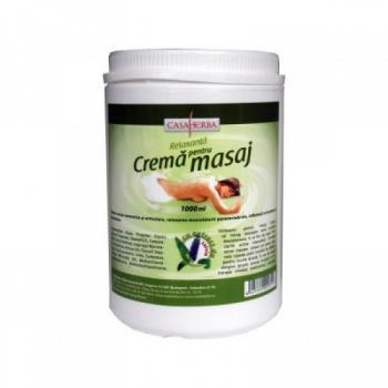 Crema pentru masaj cu extract de salvie 1000 ml CASA HERBA