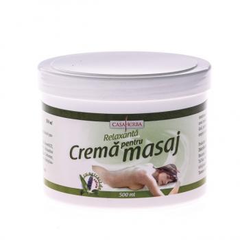 Crema pentru masaj cu extract de salvie 500 ml CASA HERBA