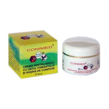 Crema pentru masaj cu untul pamantului si rasina de conifere 50 ml CONIMED