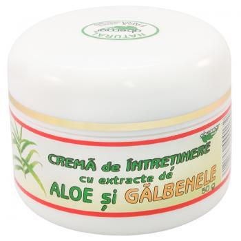 Creme de intretinere cu extracte de aloe si galbenele 50 ml ABEMAR