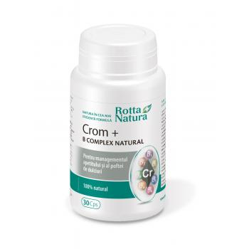 Crom +  b complex natural 30 cps ROTTA NATURA