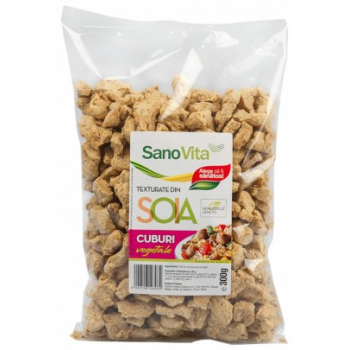 Cuburi vegetale din soia 300 gr SANO VITA