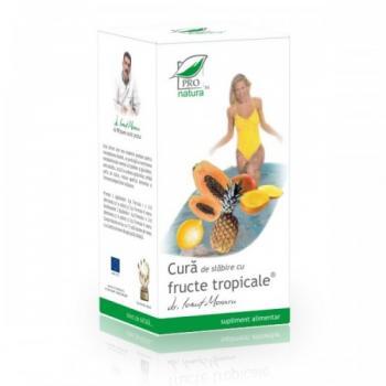 Cura de slabire cu fructe tropicale 168 cpr PRO NATURA