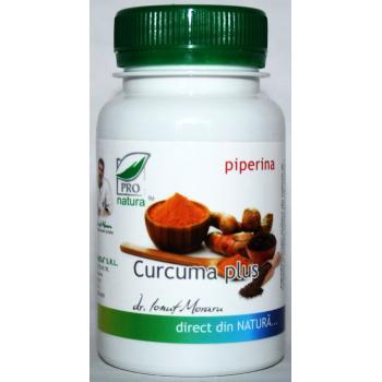 Curcuma plus piperina 60 cps PRO NATURA