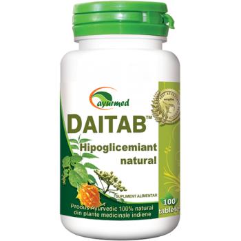 Daitab, hipoglicemiant natural 100 tbl AYURMED