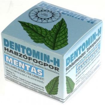 Dentomin-h praf de dinti spumant cu menta  25 gr HERBALSANA