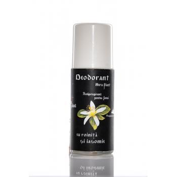 Deodorant roll on cu roinita si iasomie pentru femei 50 gr NERA PLANT