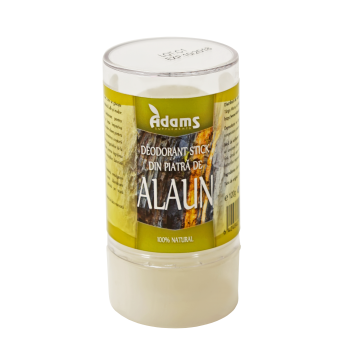 Deodorant stick din piatra de alaun 120 gr ADAMS SUPPLEMENTS