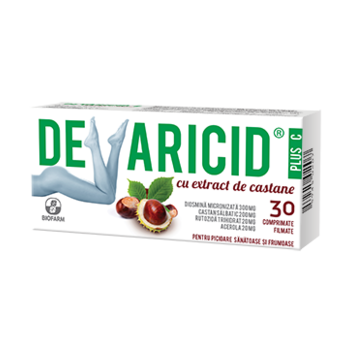 Devaricid plus c cu extract de castane 30 cpr BIOFARM