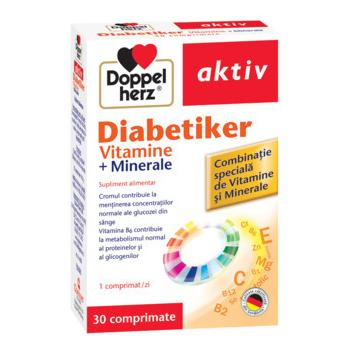 Diabetiker vitamine+minerale 30 cpr DOPPEL HERZ
