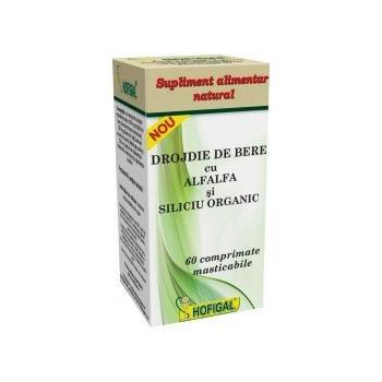 Drojdie de bere cu alfalfa si siliciu  60 cpr HOFIGAL