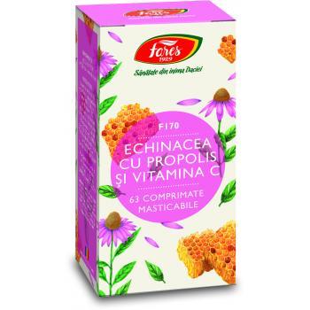 Echinacea cu propolis si vitamina c f170 63 cpr FARES
