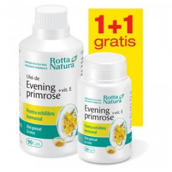 Evening primrose + vitamina  e - pachet promotional 1 + 1 120 cps ROTTA NATURA