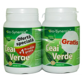 Extract ceai verde 1+1 gratis 30 cps BIO-SYNERGIE