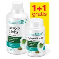 Ginkgo biloba 60 mg - pachet promotional 1 + 1 ROTTA NATURA