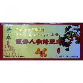 Fiole cu extracte de ginkgo biloba, ginseng si royal jelly 10ml 10 ml L&L PLANT