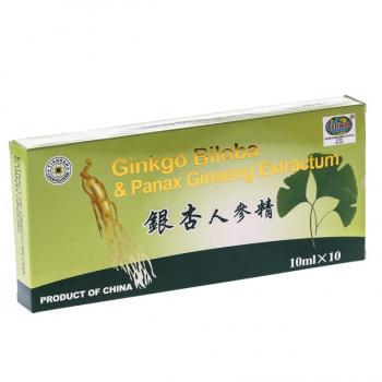 Fiole cu extracte de ginkgo biloba si ginseng 10ml 10 ml L&L PLANT