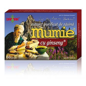 Extract de rasina mumie cu ginseng-tablete 60 tbl DAMAR