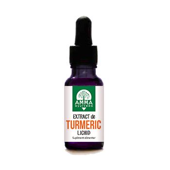 Extract de turmeric lichid 10 ml AMMA AYURVEDA