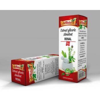 Extract gliceric stimulent renal 50 ml ADNATURA
