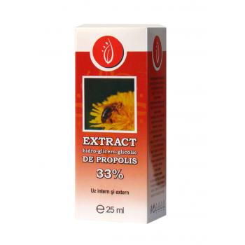 Extract hidro-glicero-glicolic de propolis 33% 25 ml SANITAS NATURAE
