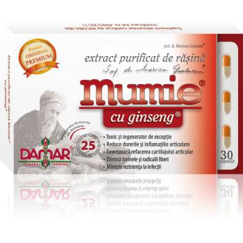 Extract purificat de rasina mumie cu ginseng-capsule 30 cps DAMAR