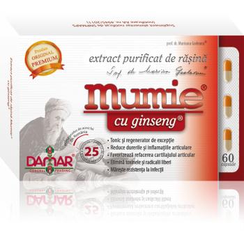 Extract purificat de rasina mumie cu ginseng-capsule 60 cps DAMAR