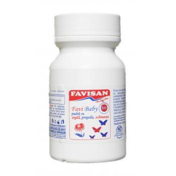 Favi baby pudra bio cu argila bo011 60 gr FAVISAN