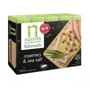 Felii de paine crocanta nairn s fara gluten din ovaz integral cu rozmarin 150 gr UNICORN NATURALS