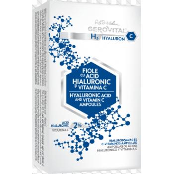 Fiole cu acid hialuronic si vitamina c 10 ml FARMEC