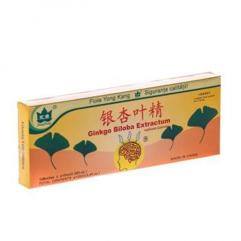 Fiole cu extract de ginkgo biloba 10ml 10 ml YONG KANG