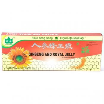 Fiole cu extract de ginseng & royal jelly 10ml 10 ml YONG KANG