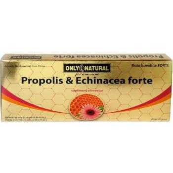 Fiole cu propolis si echinacea forte 10 ml 10 ml ONLY NATURAL