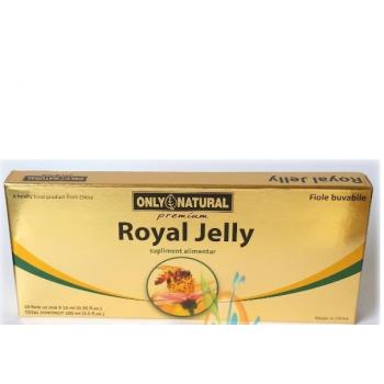 Fiole cu royal jelly 10 ml 10 ml ONLY NATURAL