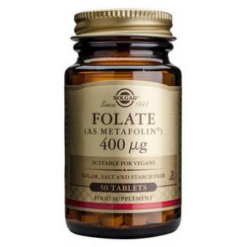 Folat 400 mcg (ca Metafolin) 50 tbl SOLGAR