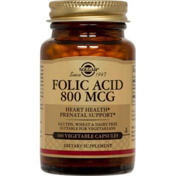 Folic acid 800 mcg 100 tbl SOLGAR