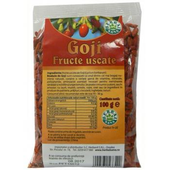 Fructe uscate goji 100 gr HERBALSANA