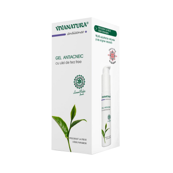 Gel antiacneic cu ulei de tea tree 50 ml VIVA NATURA