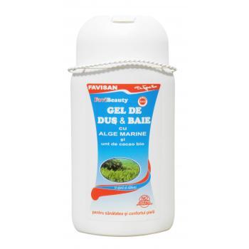 Gel de dus & baie cu alge marine m040 300 ml FAVISAN