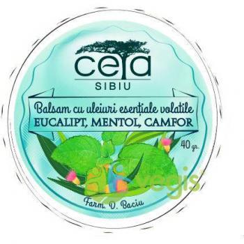 Gel respiratie usoara cu eucalipt, mentol si camfor 40 ml CETA